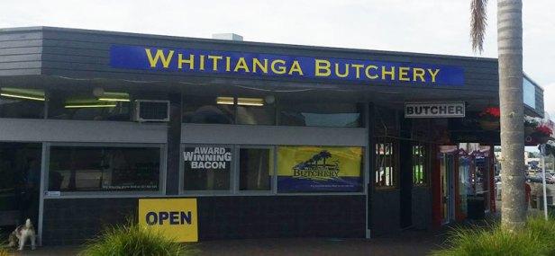 Whitianga Butchery ACM board shop signage