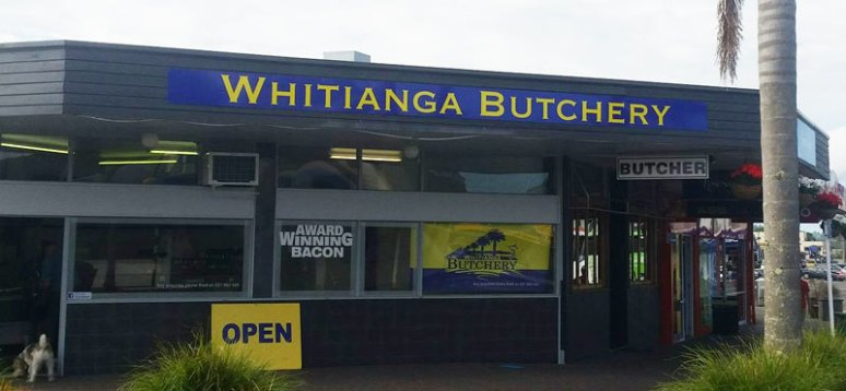 Whitianga Butchery ACM board shop signage